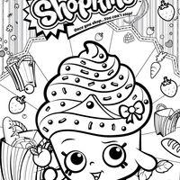 Desenho de Shopkins cupcake para colorir