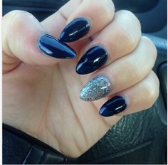 Stiletto nails on chubby, fat fingers