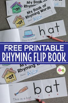 This printable rhyming book will help kids understand the concept of rhyme. Kids… This printable rhyming book will help kids understand the concept of rhyme. Kids see that the end of each word remains the same as they flip the… Continue Reading → Word Family Activities, Cvc Word Families, Rhyming Activities, Kindergarten Activities, Group Activities, Preschool, Word Family List, Family Words, Phonemic Awareness Activities