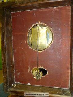 Wanduhr Rahmenuhr Holz vergoldet Gehwerk - Mechanische - Standuhren - Celestial, Grandfather Clocks, Desk Clock, Frame
