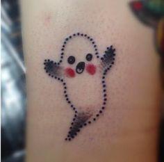 little gost cute tattoo