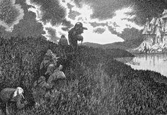 Theodor Kittelsen - On the way to Troll Castle