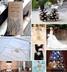 Snowflake Winter Wedding Inspiration Board | http://emmalinebride.com/themes/ideas-winter-weddings/