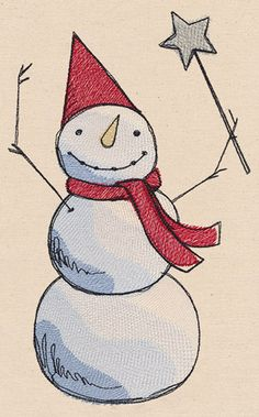Free Embroidery Design: Frosty