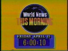 World News This Morning Title Card, Classic Image, Abc News, Burger King Logo, Tv, Logos, Television Set, Logo, Television