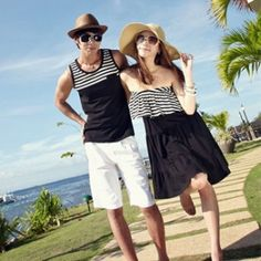 Time for summer lovin'! Look so sweet and adorable in couple outfits