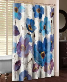 Bold Anemones I Shower Curtain