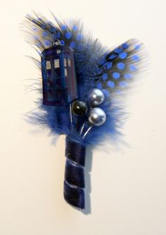 tardis boutonniere! screw this, I'm getting married again!