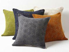 Diamond Crochet Pillows by Coyuchi. So pretty.