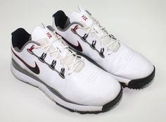Nike Men's TW 14' Tiger Woods Golf Shoes White 605390-100 Size 11 Wide Used