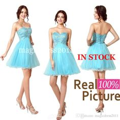 Cheap Cheap for Sale - Discount Cheap for Sale 2014 Ready to Wear Cute Blue Homecoming Dresses Short Party Dresses A-Line Sweetheart Beaded Graduation Dress Prom Gown Online with $46.08/Piece on Magicdress2011's Store | DHgate.com