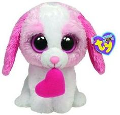 Ty Beanie Boos Cookie Dog with Heart All Beanie Boos, Beanie Boo Dogs, Beanie Boo Party, Beanie Babies, Cute Stuffed Animals, Cute Animals, Big Eyed Animals, Ty Beanie Boos Collection, Ty Peluche
