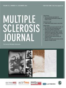 Cover image for latest issue of Multiple Sclerosis Journal