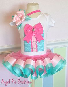 Baby Girl's Birthday Outfit Large Present by AngelPieBoutique