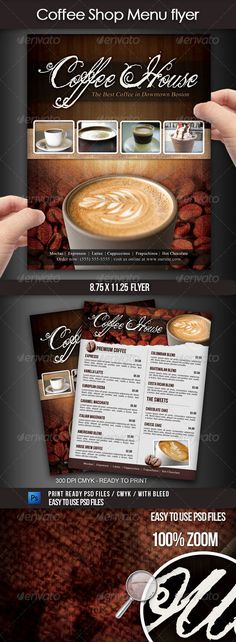Sweet Shop Menu Tri-fold Brochure Tri fold brochure, Tri fold - coffee shop brochure template