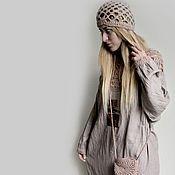 Купить или заказать Платье из тонкого льна 'Серафима серебряная' в интернет-магазине на Ярмарке Мастеров. Серафима, ты звал меня по имени. Не ведая ни дней, ни времени. Любил меня неистово, Желая моей истины. А я молчала... Зарезервировано... Ах как же оно хорошо это боховское по боховски платье, из люксового светлого льна с красивой мятостью после стирки. Вязаные детали связаны из хлопковой пряжи. Для любительниц таких вещей умение их носить это природа. Шапочка в комплекте с платьем.