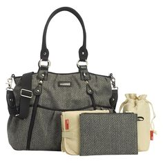 Storksak Olivia Herringbone Tweed Changing Bag  £110