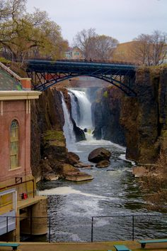 15 beautiful places in New Jersey.  Passaic River Great Falls, Troy Meadows, Parsippany; Seaside Heights; Clinton; Barnegat Lighthouse; The Great Falls; Painted house in Cape May; Allaire State Park; Abandoned farm water tower in Ocean Township; Edgemont Park; Clinton Road, West Milford; Abandoned railway bridge in Springfield; Ocean Grove (middle of NJ); Warrington Plaza clocktower in Hoboken;