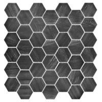Boardwalk Charcoal Hex Porcelain Mosaic Wall and Floor Tile 2 in $10.99 Sq Ft     			 					Coverage 10.88 Sq Ft per  Box