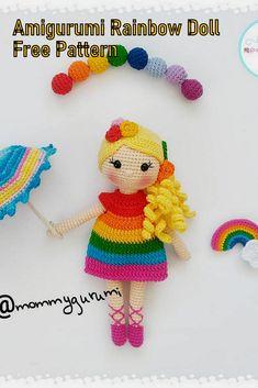 Tutorial Amigurumi, Doll Amigurumi Free Pattern, Crochet Amigurumi Free Patterns, Crochet Blanket Patterns, Amigurumi Doll, Rainbow Crochet, Little Doll, Blog, Knitting