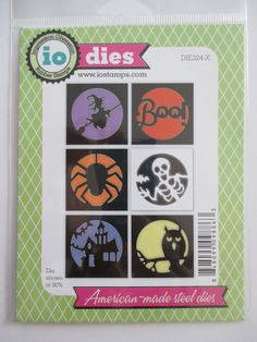 Impression Obsession craft dies Halloween Cut Out Circles owl witch spider boo #impressionobsession #morningsunstudio