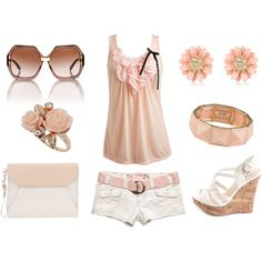 """A Blushing Short Kind Of Day"" by alerogirl on Polyvore"