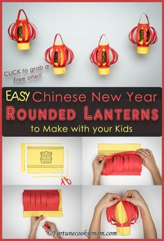 Chinese New Year| Chinese New Year Lanterns| Art and Crafts| DIY| http://fortunecookiemom.com/2017/01/cny-rounded-lanterns/