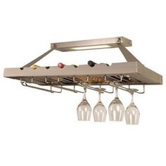 Checkolite Lighted Ceiling Mount Wine Rack