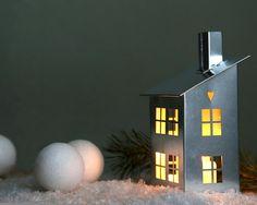 Maison de Tin bougeoir LIVRAISON GRATUITE par DesignAtelierArticle