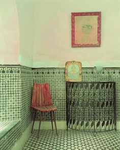 Tiled bathroom with Indian / Moroccan flair