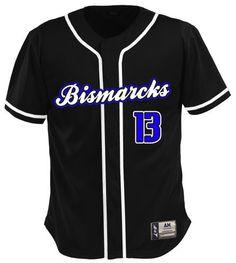 Have a look at these custom jerseys designed by Bismarcks Baseball and created at T & B Sports! http://www.garbathletics.com/blog/bismarcks-baseball-custom-jerseys/ Create your own custom uniform at www.garbathletics.com!