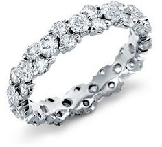 Normally I'd probably say it's too much bling but I love the skinny band. Garland Diamond Eternity Ring in Platinum ct. Eternity Ring Diamond, Eternity Bands, Diamond Wedding Rings, Diamond Bands, Diamond Jewelry, Diamond Stone, Jewelry Rings, Silver Jewelry, Jewelry Ideas