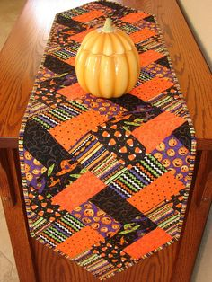 Halloween Quilted Table Runner Decoration by susiquilts on Etsy, $35.00