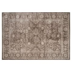Check out this item at One Kings Lane! Brock Rug, Brown/Ivory