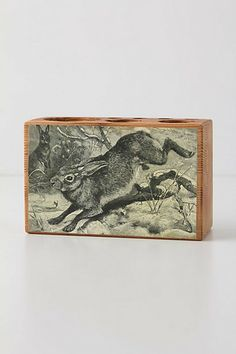 Pine Desk Caddy  #anthropologie