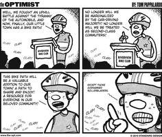 The Bike Path To Equality #comic #webcomic #comicstrip #funny #lol #ha #cycling #bikepath