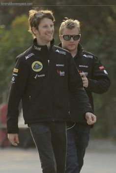 Romain & Kimi at Gp china friday 12-4-2013