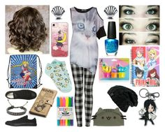 """Grace Atkinson~ First Day of School"" by tabithahallows ❤ liked on Polyvore featuring Converse, Gravity, Casetify, Disney, Topshop, 147 Fashion, Forever 21, OPI, Sebastian Professional and Pusheen"