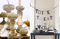 18 DIY Ideas for a Sophisticated Halloween Soiree via Brit + Co. Chic Halloween, Halloween Inspo, Halloween Pictures, Happy Halloween, Halloween Crafts, Halloween Party, Halloween Decorations, Autumn Decorations, Seasonal Decor