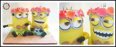 Hula Minions - Cake by My Sweet Dream Cakes