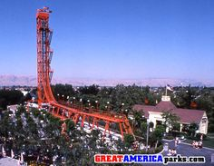 The Edge made its debut in both Gurnee and Santa Clara in Similar to the case of The Demon roller coaster, The Edge was a major attraction that was not integrated into the theme of its sectio… Great America, Carnival Rides, Santa Clara, Family Travel, Family Trips, Old Skool, Horseback Riding, Golden Gate Bridge, Stuff To Do