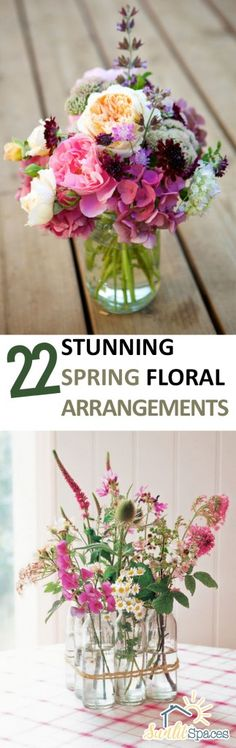 Spring Floral Arrangements. #flowers #decor http://sunlitspaces.com/2017/03/09/22-stunning-spring-floral-arrangements/