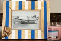 nautical frame DIY a glossy charming twist: nautical frame DIY