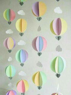 Tiny hot air balloons diy