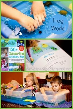 Frog World Play ~ idea from 150 Screen-Free Activities for Kids {a GREAT book}
