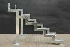 Treppe Stair substructure Youth Sports Schedules: Alerts Keep Parents in the Know You rush to get yo Steel Stairs, Steel Railing, Wood Stairs, House Stairs, White Staircase, Staircase Railings, Modern Staircase, Steel Gate Design, Stair Railing Design
