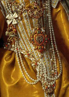 Maria Magdalena of Austria. Detail. Frans Pourbus II, 1603. #baroque