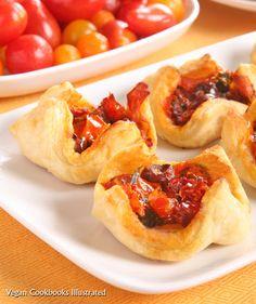 Vegan Two-Tomato Pastry Purses from the cookbook Quick-Fix Vegan.