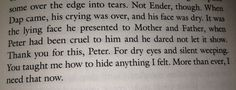 """""""Thank you for this..."""" (Ender's Game - Orson Scott Card)"""