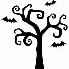Silhouette Design Store - Voir design # 66864: hanté arbre de halloween